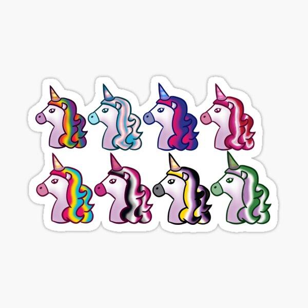 LGBTQ Unicorns Sticker Pack Sticker