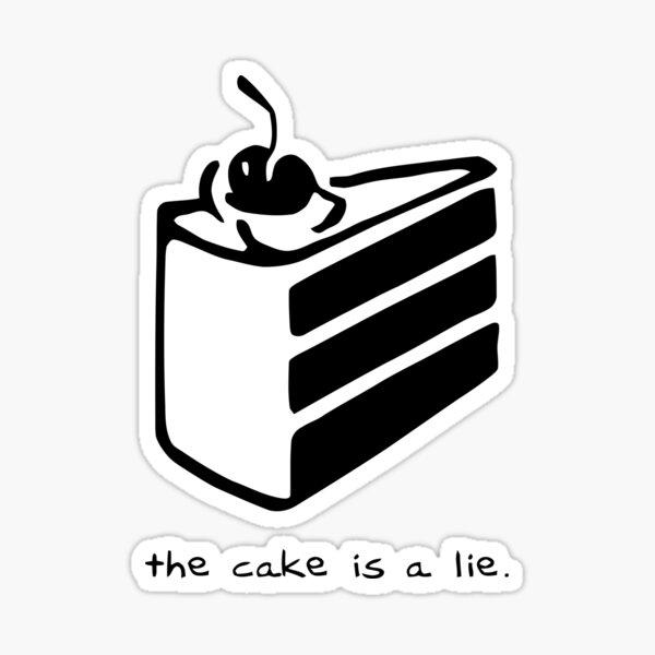 The Cake is a Lie Sticker