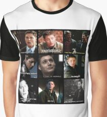 Dean Winchester Quote Collage #2 Graphic T-Shirt