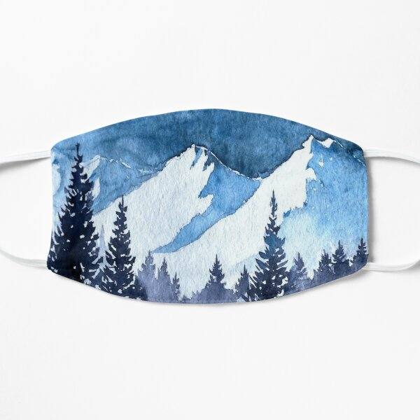 Snowy Mountains Painting Flat Mask