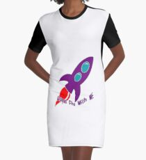 Come Fly With Me Graphic T-Shirt Dress