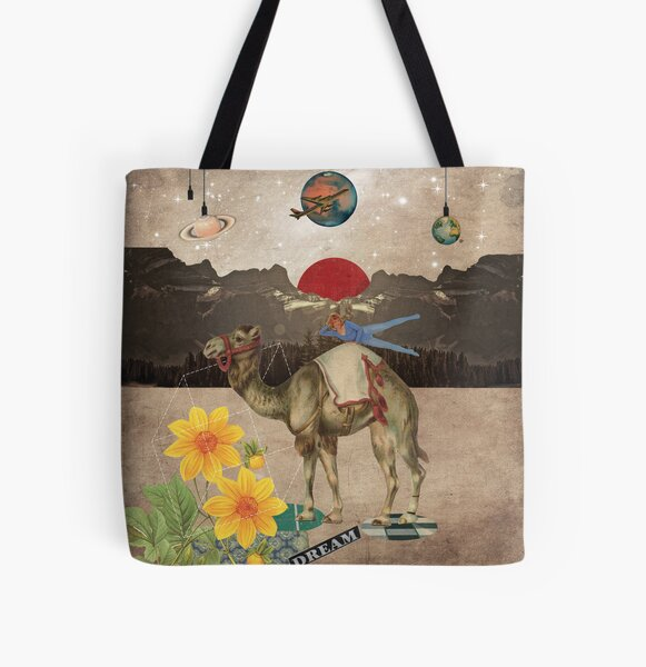 Animal Collection by Elo -- Desert Is A Lonely Place All Over Print Tote Bag