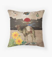 Animal Collection by Elo -- Desert Is A Lonely Place Throw Pillow