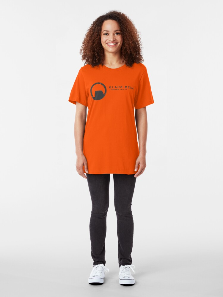 Alternate view of Black Mesa Research Facility Slim Fit T-Shirt