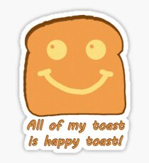 Happy Toast Sticker