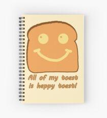 Happy Toast Spiral Notebook