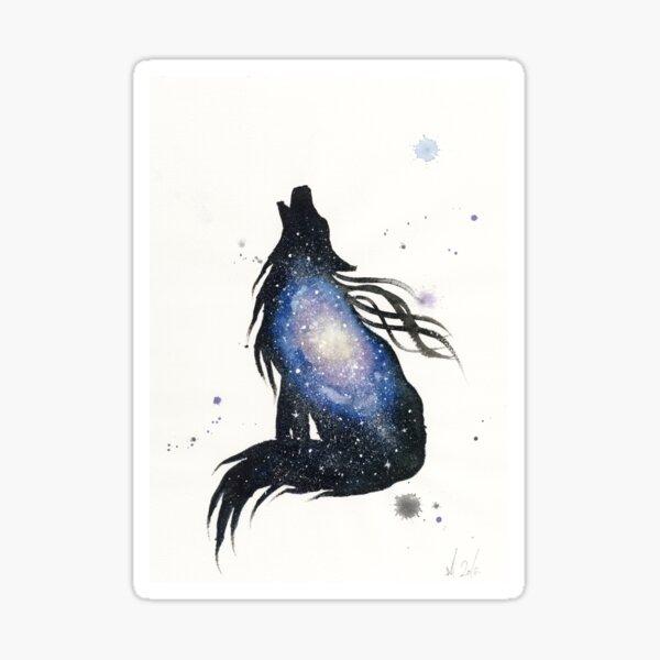 Milky Way Wolf Sticker