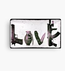 'LOVE' GUNS  Canvas Print