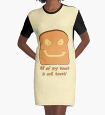Evil Toast! Graphic T-Shirt Dress