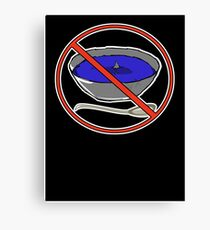 No Shark Fin Soup For You! Canvas Print