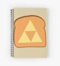 Triforce toast Spiral Notebook