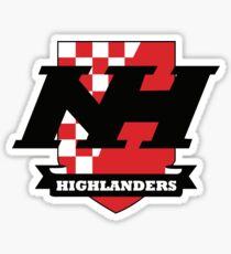 Northern Highlands Highlanders Crest Sticker