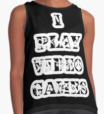 I play video games - in white Contrast Tank