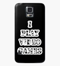 I play video games - in white Case/Skin for Samsung Galaxy