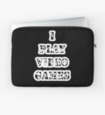 I play video games - in white Laptop Sleeve