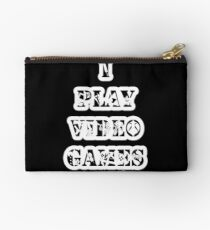 I play video games - in white Studio Pouch