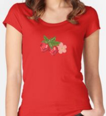 Strawberry Botanical Women's Fitted Scoop T-Shirt