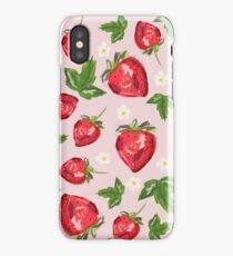 Strawberry Botanical iPhone Case