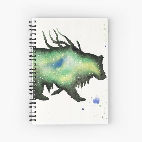 Green Nebula Bear Spiral Notebook