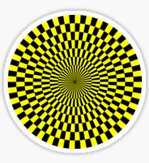 Op Art - Yellow and Black Sticker