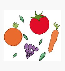 vegetables & fruits Photographic Print