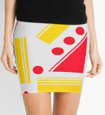 Geometric in red and yellow Mini Skirt