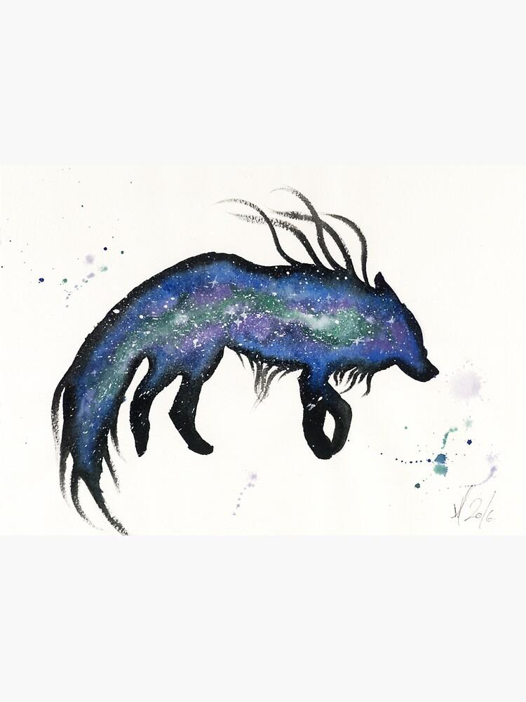 Gren Blue Nebular Wolf by creaturesofnat