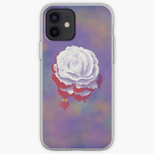 Painted Rose - Rectangular Image iPhone Soft Case