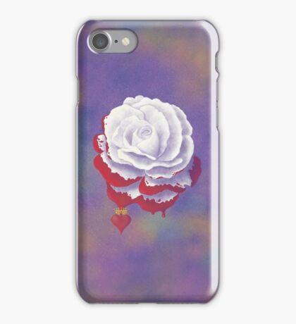 Painted Rose - Rectangular Image iPhone Case/Skin