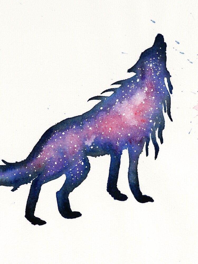 Purple Nebula Wolf  by creaturesofnat