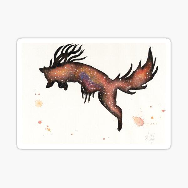 Red Nebular Fox Sticker
