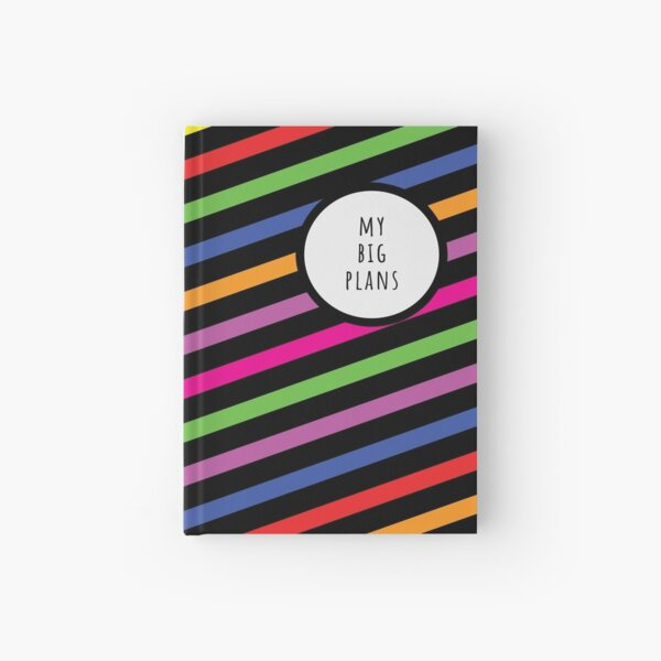 My Big Plans (Rainbow and Black and White) Hardcover Journal