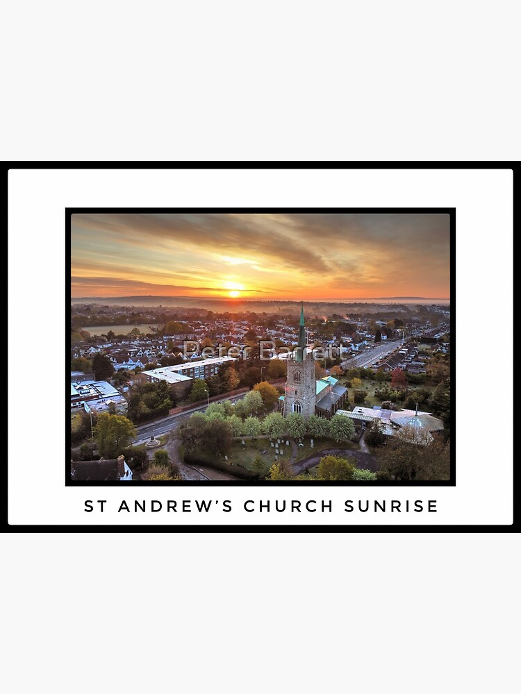 St Andrews Church Sunrise 1 by hartrockets
