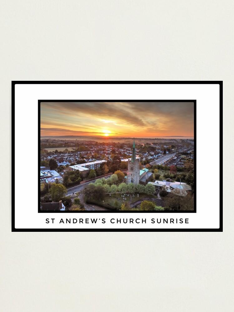 Alternate view of St Andrews Church Sunrise 1 Photographic Print