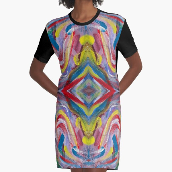 Party colors of confetti Graphic T-Shirt Dress