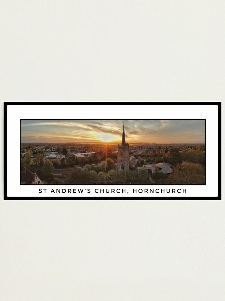 Alternate view of St Andrews Church Sunrise Panorama Photographic Print