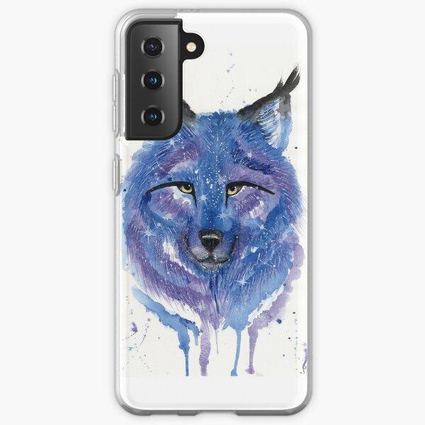 Purple Galaxy Wolf Samsung Galaxy Soft Case