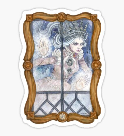Snow Queen at the window Sticker