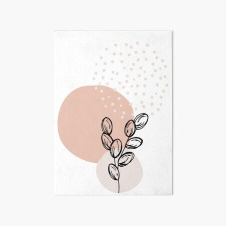 boho art, printable wall art, botanical, modern home deco, minimalist wall art Art Board Print