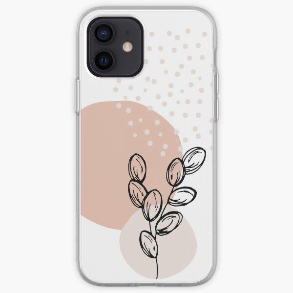 boho art, printable wall art, botanical, modern home deco, minimalist wall art iPhone Soft Case