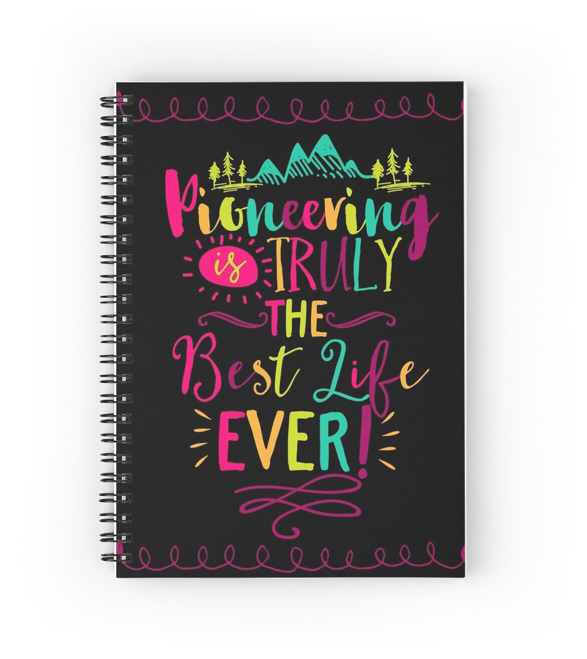 Case Ih Home Decor Quot Pioneering Is Truly The Best Life Ever Quot Spiral Notebooks