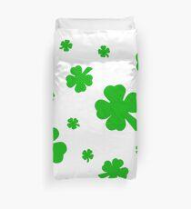 Green Shamrocks for the Irish Duvet Cover