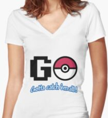 GO! Women's Fitted V-Neck T-Shirt