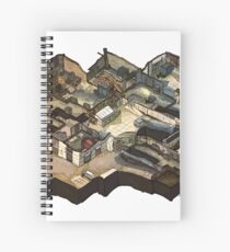 Cache Isometric CSGO Map Spiral Notebook