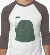 Typography Men's Baseball ¾ T-Shirt