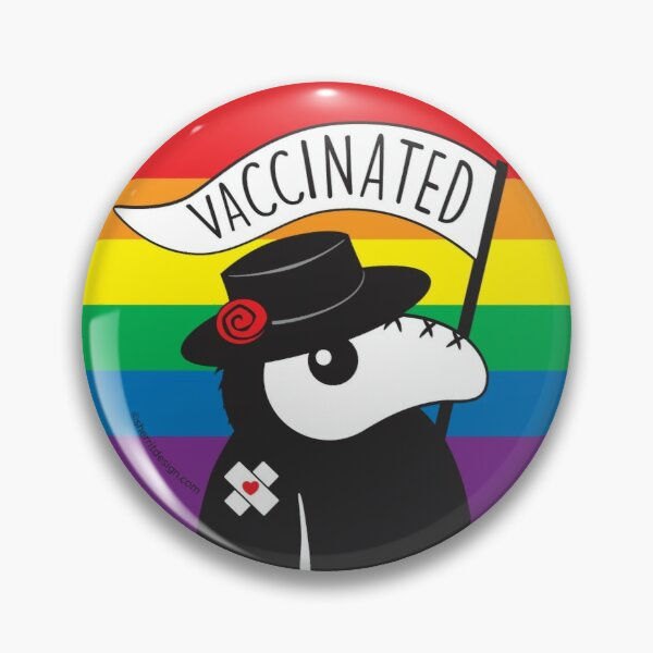 Plague Doctor Vaccinated Pride Edition Pin