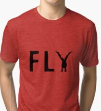 Funny Fly Graphic Design Tri-blend T-Shirt