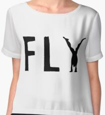 Funny Fly Graphic Design Women's Chiffon Top