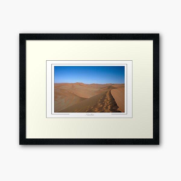Sossusvlei Namibia; Namib Desert dune sea. Framed Art Print