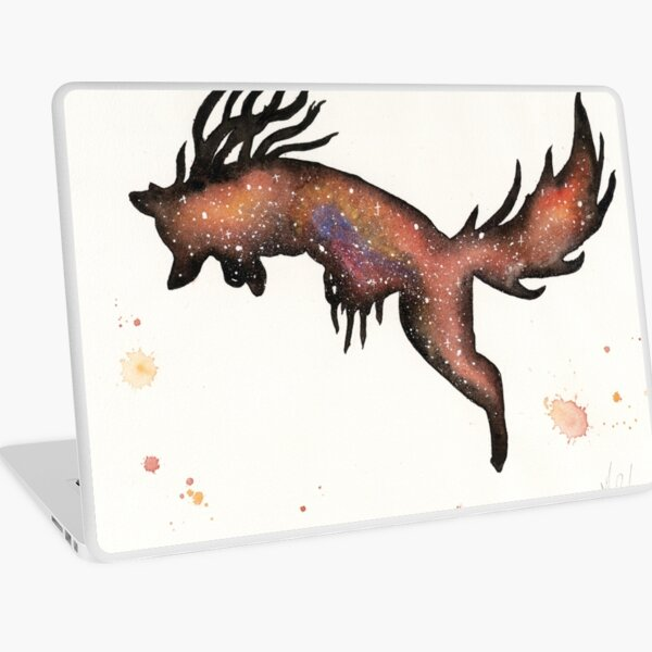Red Nebular Fox Laptop Skin